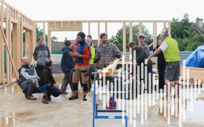 Construction paille : un chantier-école pour se former